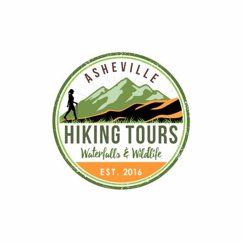 Logo design Asheville Hiking Tours