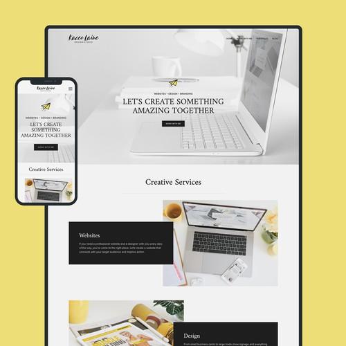 Website Design for Kacee Laine