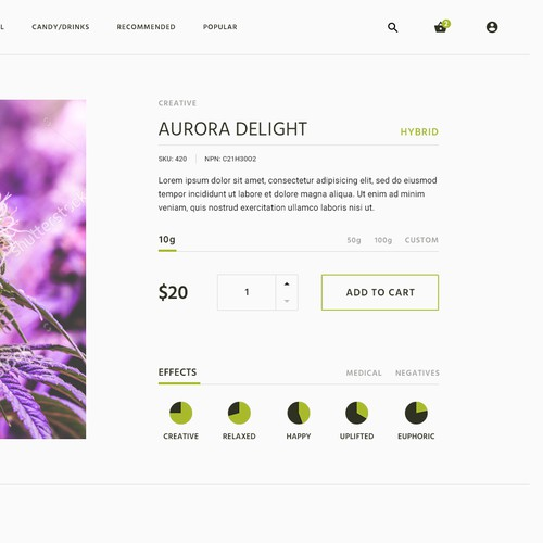 Clean Product Page