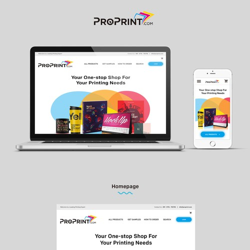 Web Design for online printing company