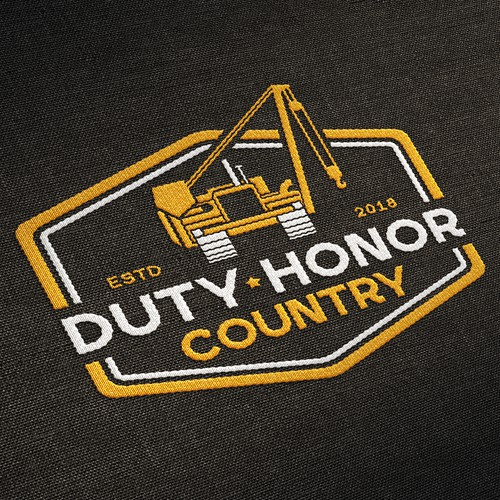 "Logo for Pipeline ""Duty Honor Country"""