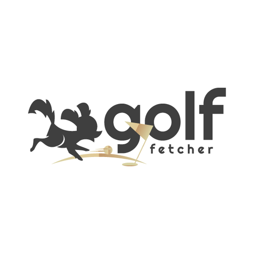 Fun Golf Dog Logo