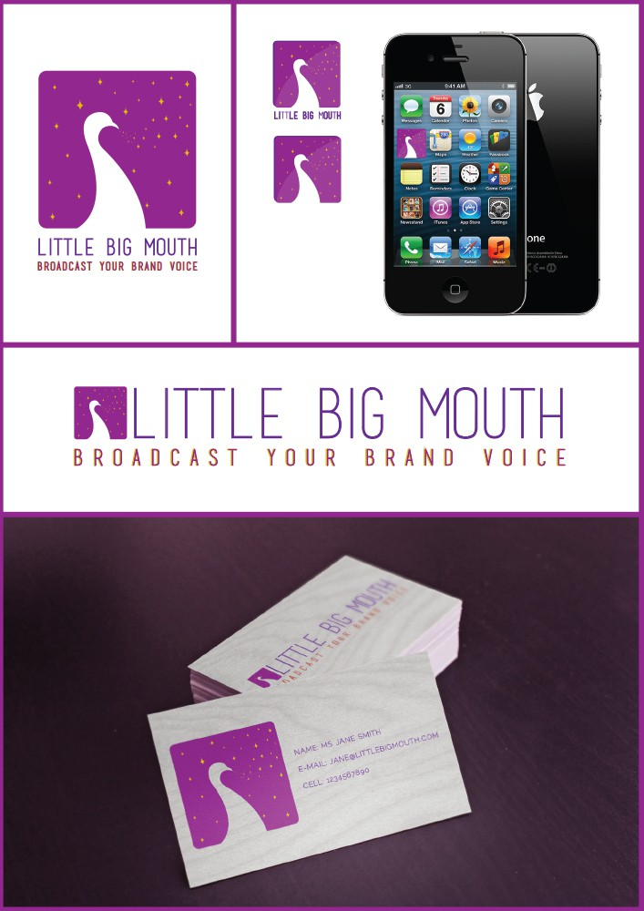 Create a logo juxtaposing audacity, humour and elegance for a brand copy consultant.