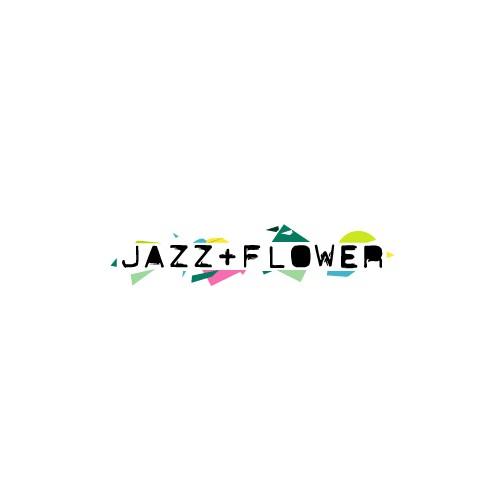 Experimental logo for fashion label Jazz+Flower