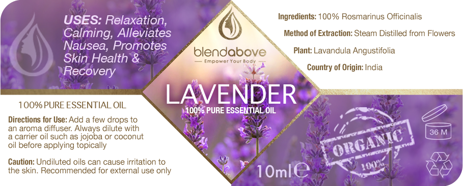 Label for Lavender Essential Oil **BONUS Opportunity**