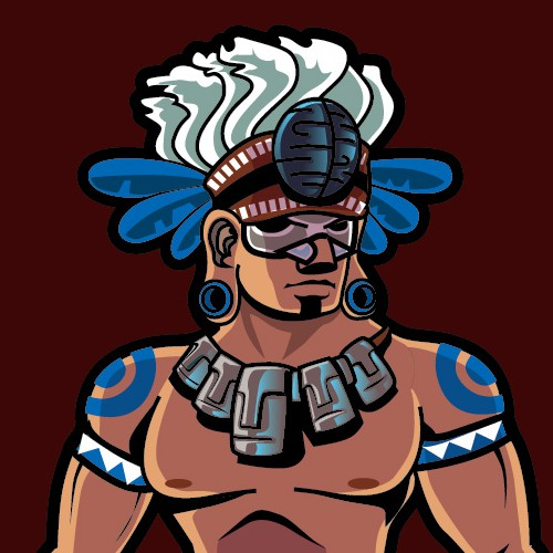 Mayan Warrior design for apparel