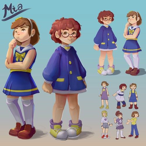 Contest Design Entry - Character Design for Mia