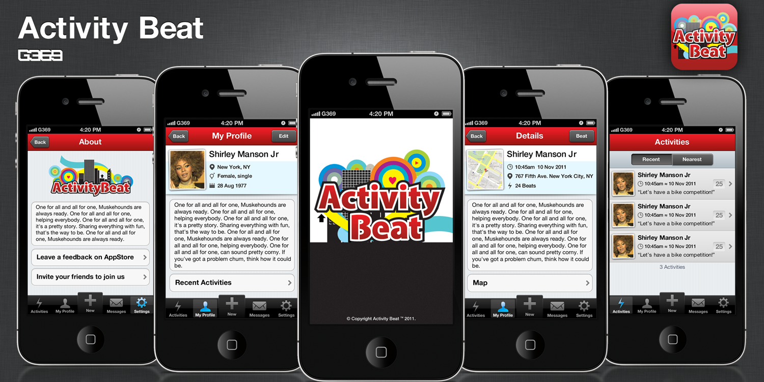 New app design wanted for ActivityBeat