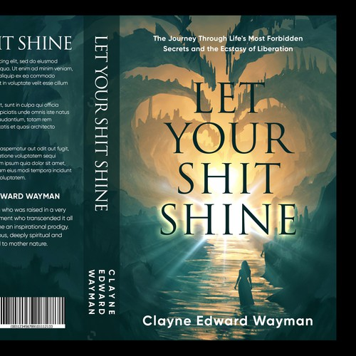 "Book Cover design for ""Let Your Shit Shine"""