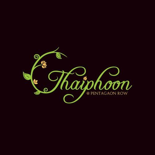 Organic thai restaurant logo