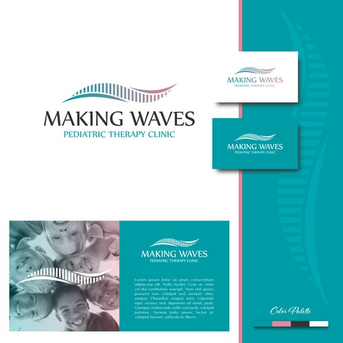 Logo Design for Making Waves Pediatric Therapy Clinic