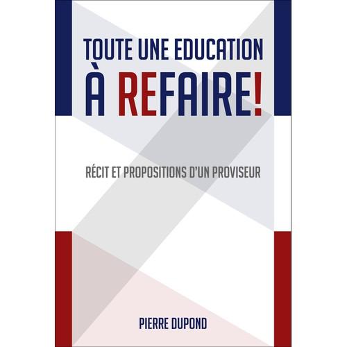 """Design book cover for """"Toute une Education à refaire"""""""