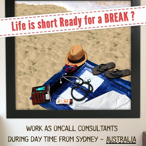 Design of magazine ad to attract UK radiologists to jobs in Sydney, Australia