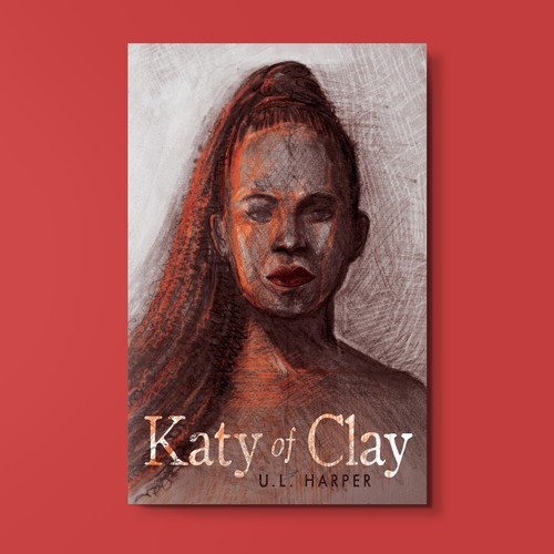 "Original Hand-drawn illustration for ""Katy of Clay"" book cover"