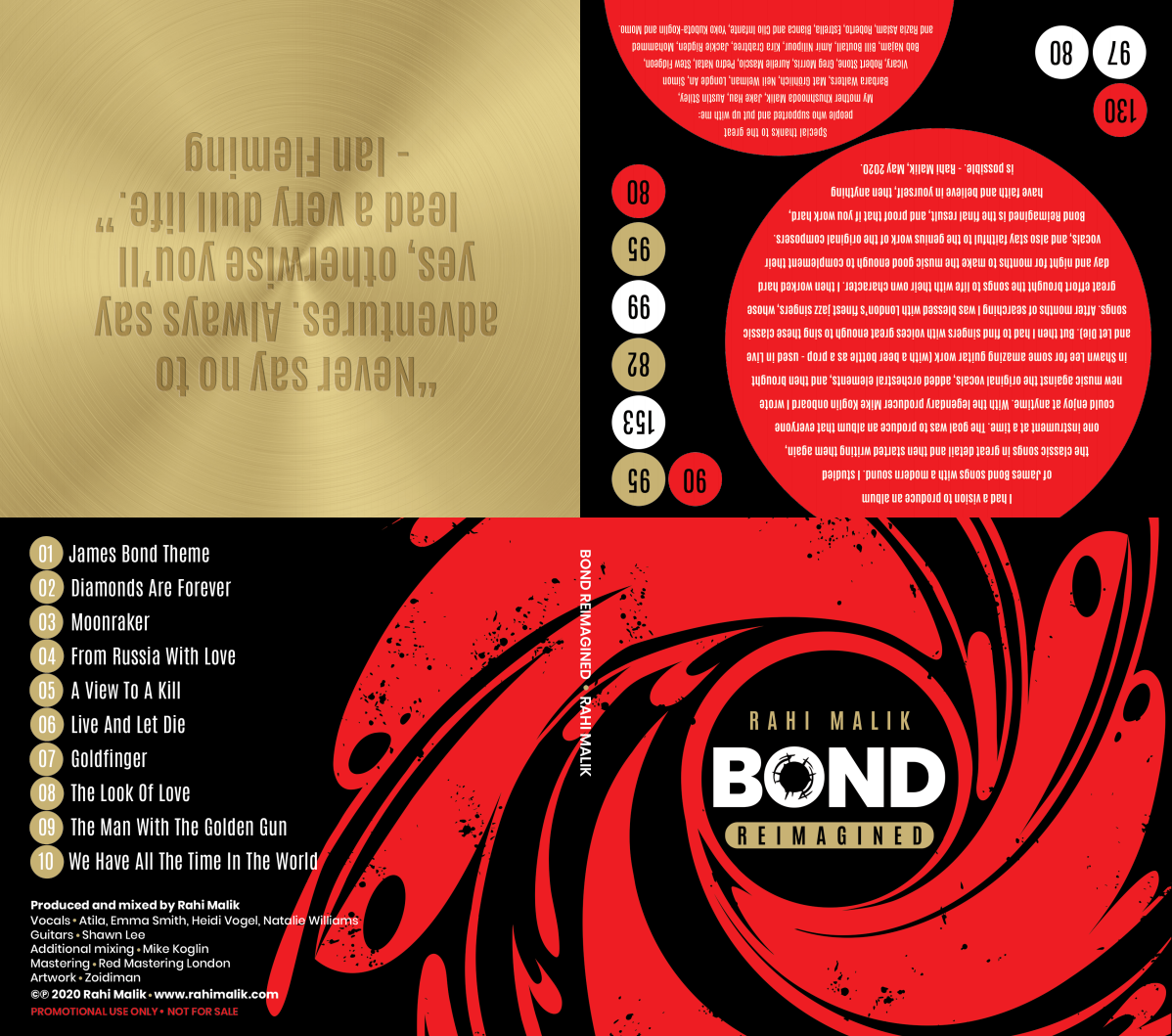 James Bond: Update artwork for Digipak CD