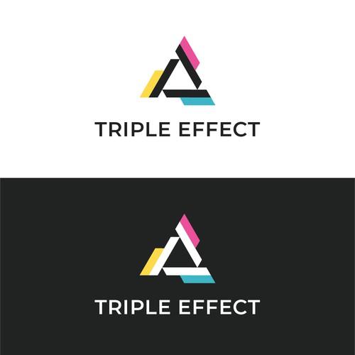 Triple Effect Logo Concept