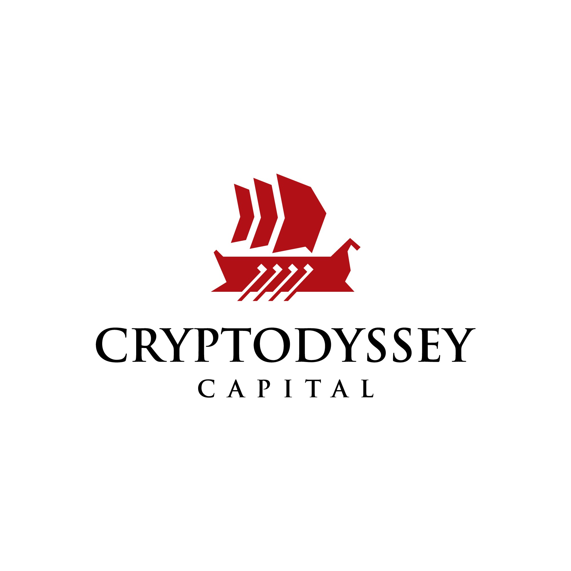 Design a logo that combines the digital world and mythology for large Crypto Hedge Fund