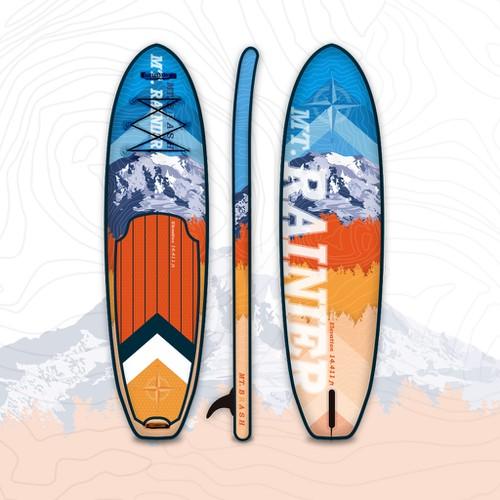 Colorful paddle board design