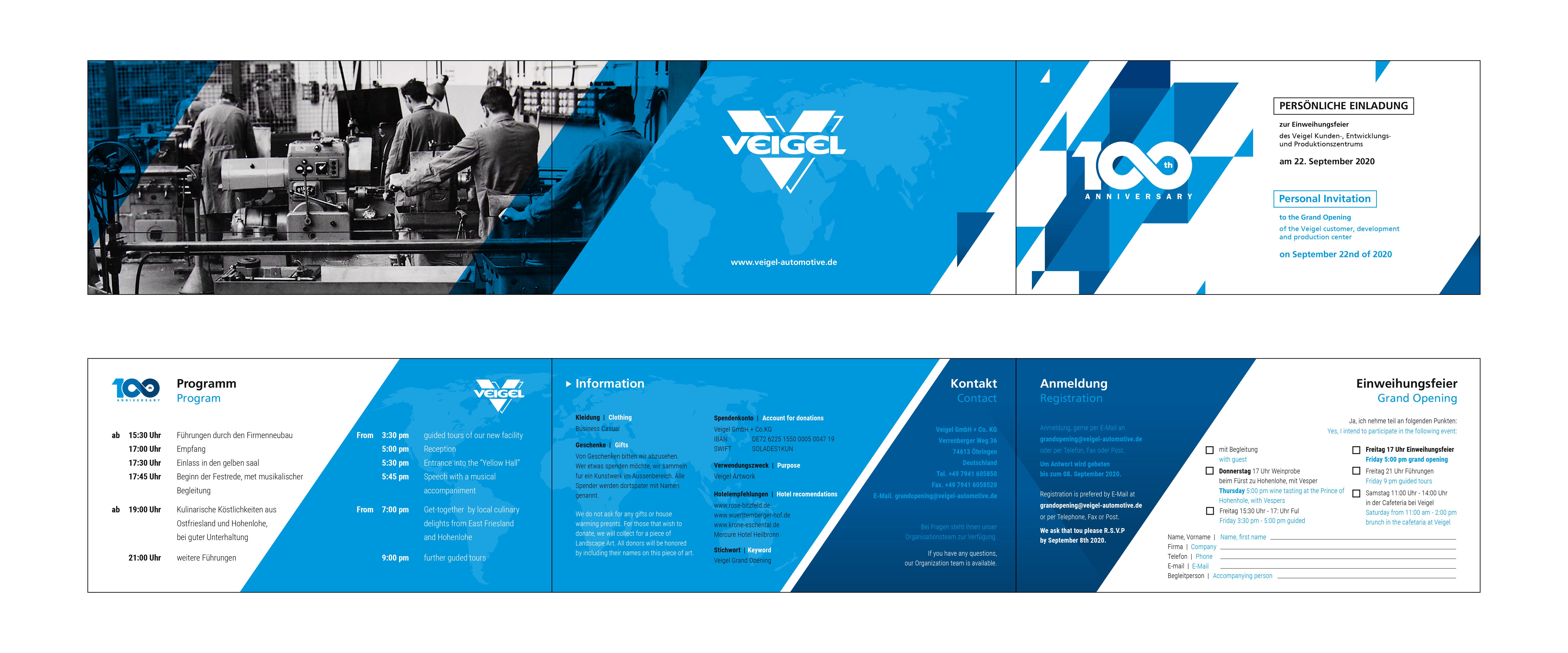 Veigel Automotive turns 100 invitation