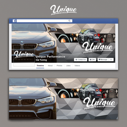 Facebook cover for Unique Performance