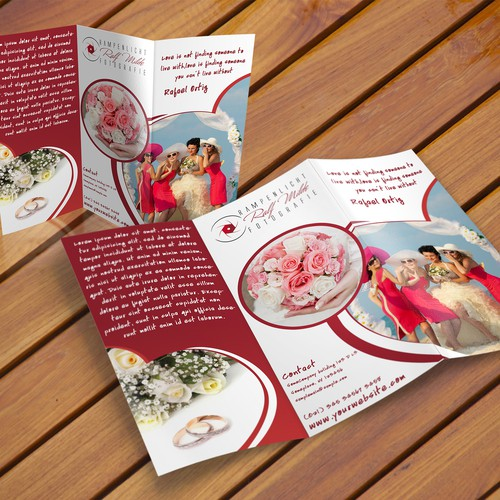 Extra ordinary brochure for wedding photographer