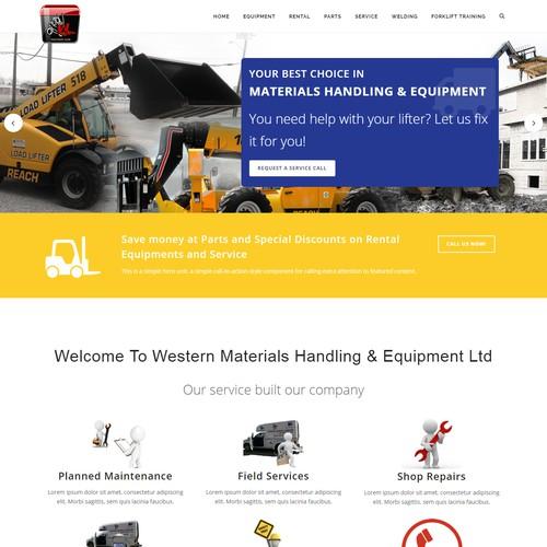 Forklift Web Design Wordpress Theme