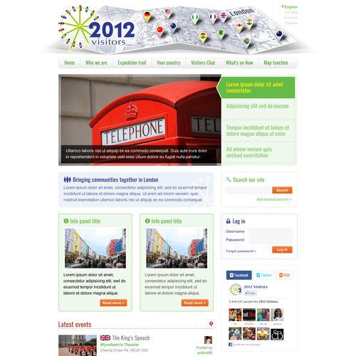 Help 2012 Visitors.com with a new website design