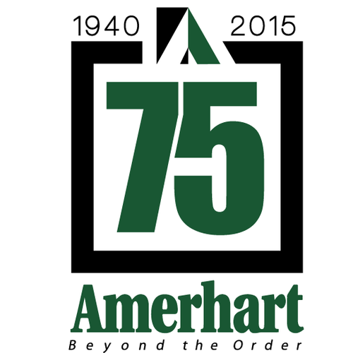 Designed a creative logo for Amerhart for 75th anniversery.