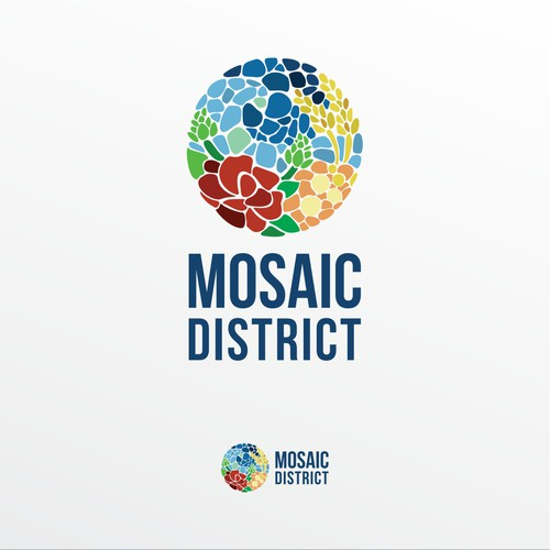 "A logo concept for ""Mosaic District"""