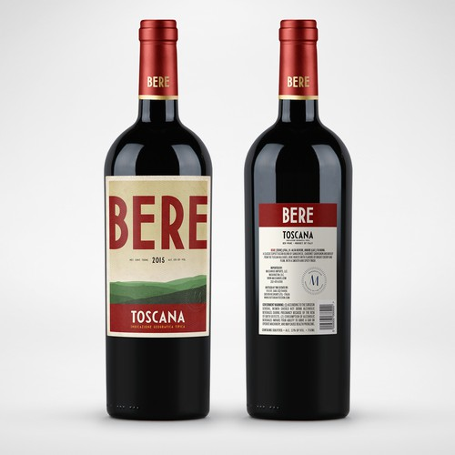 BERE Wine in the style of vintage Travel Posters