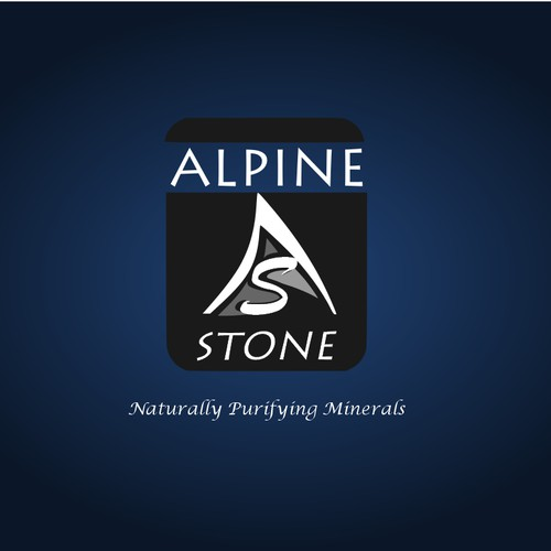 Create a logo for ALPINE STONE natural products (crystalline salts)