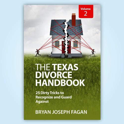 """Book Cover Design """"The Texas Divorce Handbook"""""""