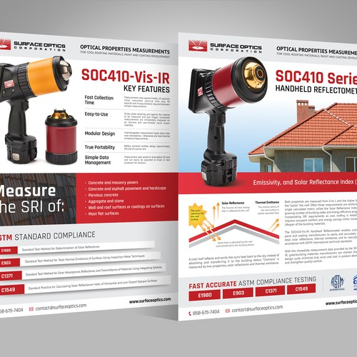 Design Flyer for Cool Roofing market