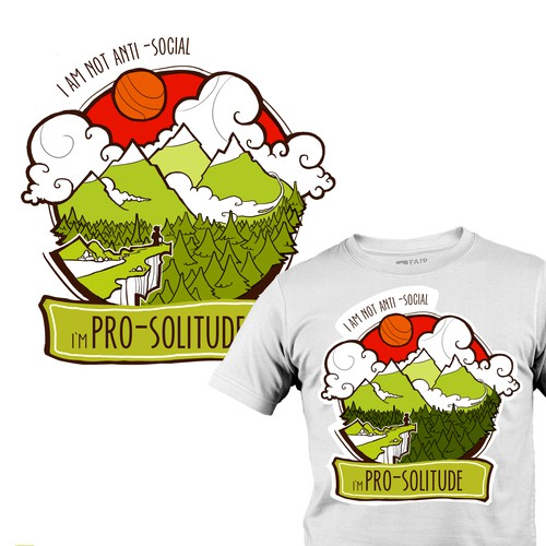 """I'm Pro-Solitude"" T-Shirt design"