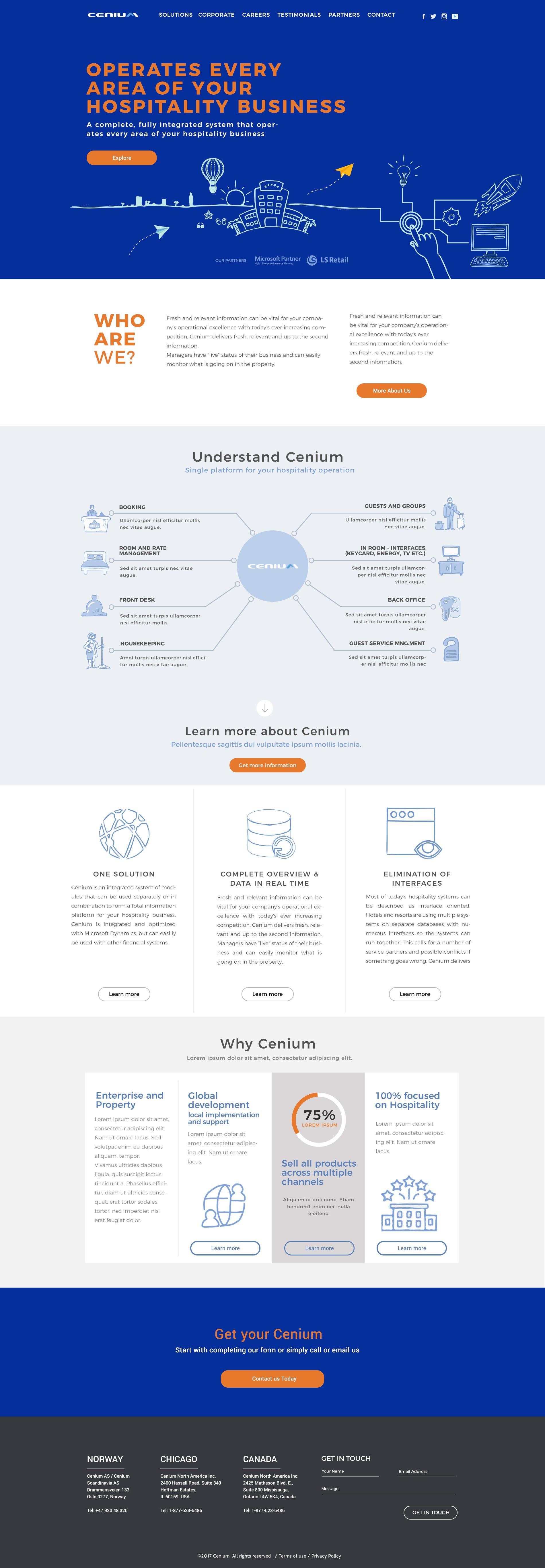 Global software company Cenium needs a new website!