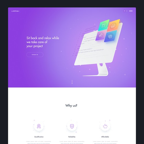 Website design for Lampdev.