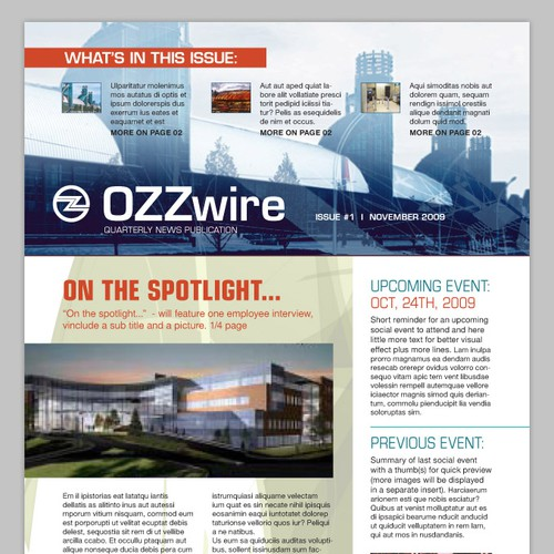 Corporate 4 page print newsletter template