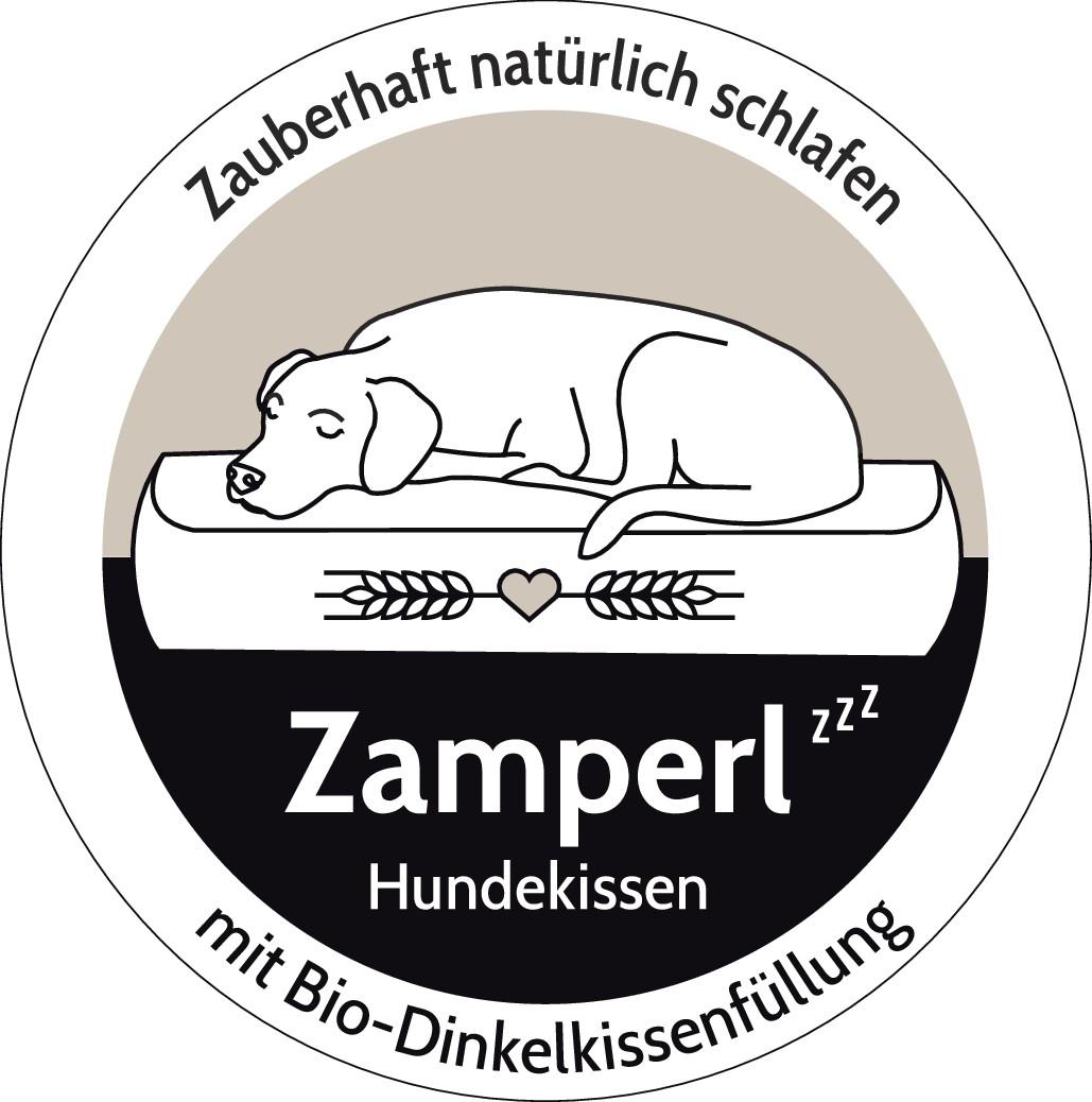 Logo für hochwertiges + nachhaltiges Hundekissen mit Bio-Dinkelspelzfüllung für große Hunde