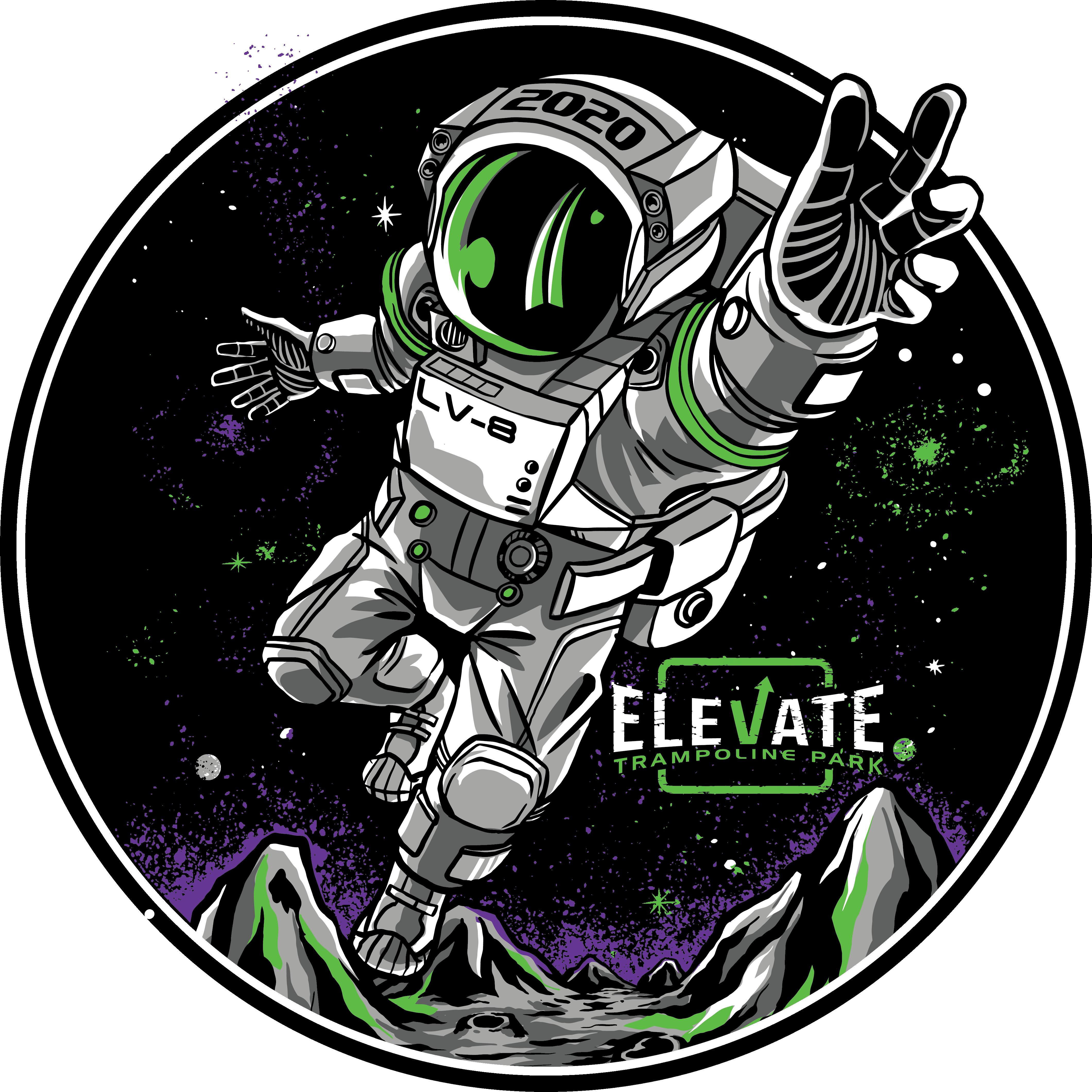 "Trampoline Park T-Shirt ""Spaceman"" Theme"