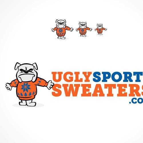 Create a logo for the website UglySportsSweaters.com