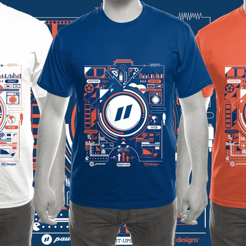 Design cool T-shirt for a Digital festival!