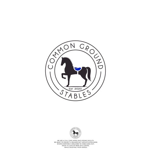 Bold logo for COMMON GROUND STABLES.