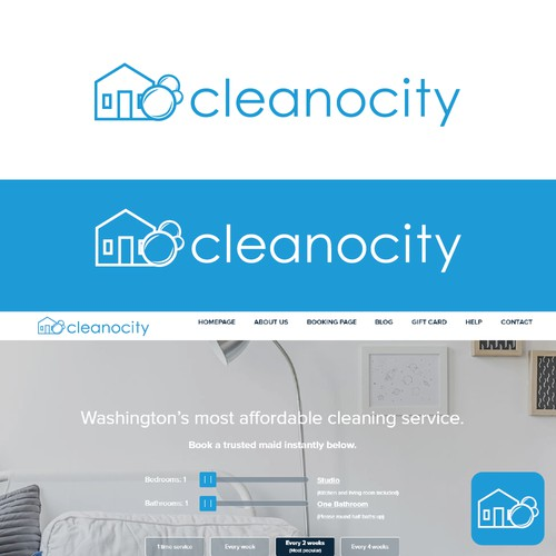Logo concept for a house cleaning referral agency