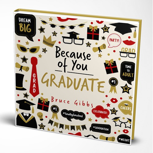 Book cover design for book about GRADUATE