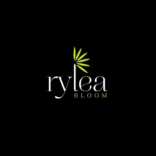 Elegant logo for flower and arts shop.