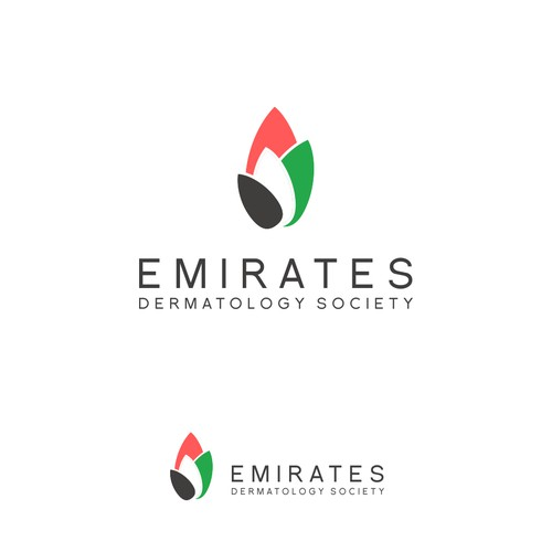 Elegant logo for Emirates Dermatology Society