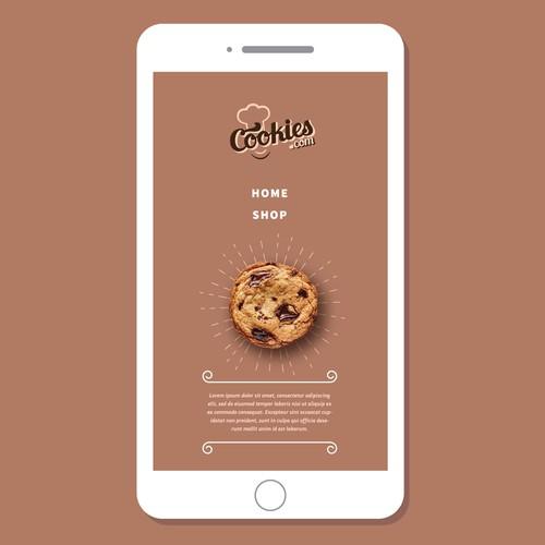 Logo design for a online cookie shop