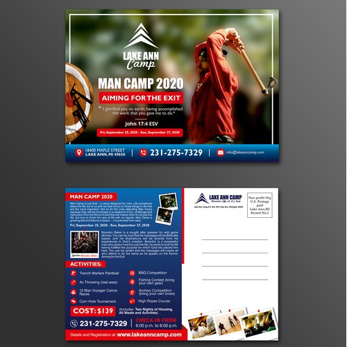 Man Camp 2020 Postcard