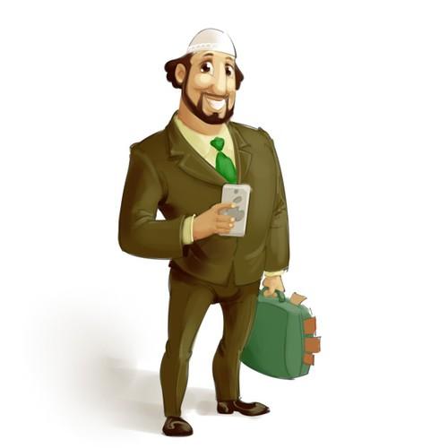Business Consultant Mascot