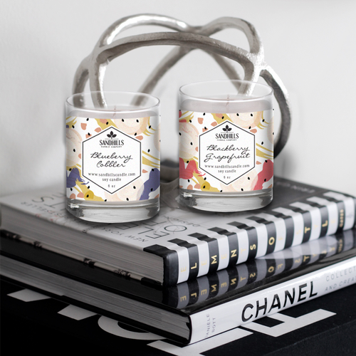 Label design for Sandhills Candle Co
